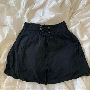 Anthropologie black A line skirt